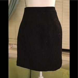 Loft shinny black skirt